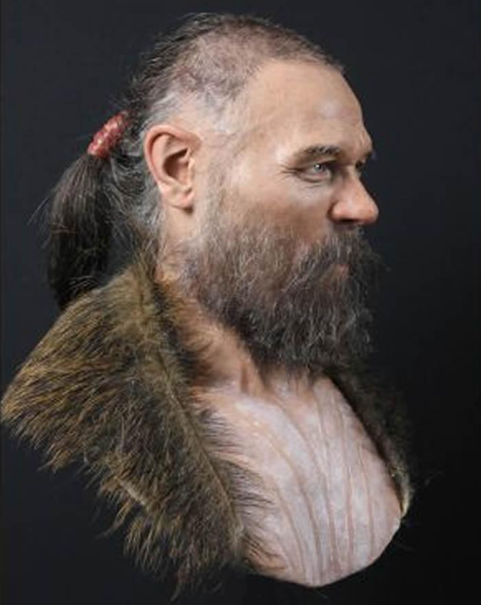 瑞典专家利用电脑3D技术成功重塑8千年前中石器时代男子容貌