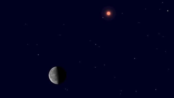 """7月12日凌晨天宇将上演""""火星合月""""美丽天象"""