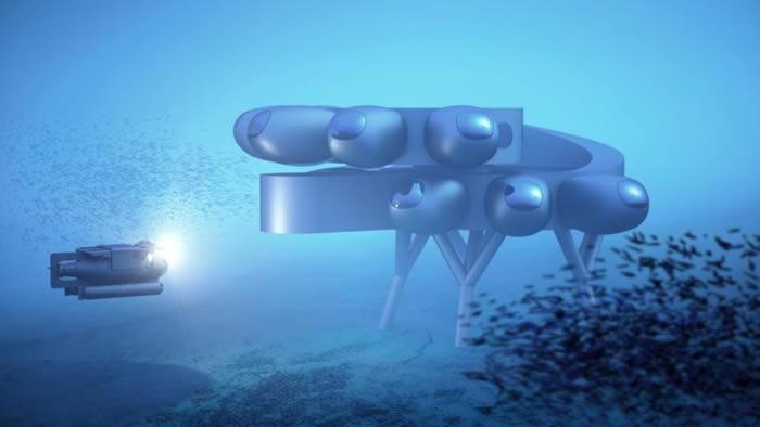 """海底城?在加勒比海海底建造深海国际空间站""""普罗透斯"""""""