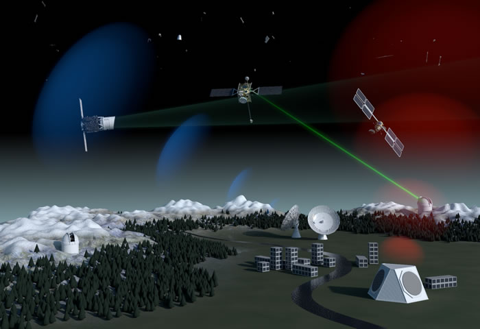 欧空局(ESA)科学家开发一种利用激光精确跟踪太空碎片的方法