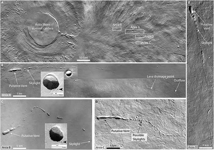 月球和火星地表下方的熔岩管体积庞大 未来或可建人类基地