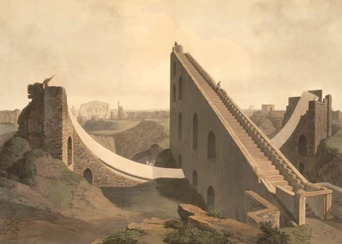 印度新德里的一台有几百年历史的天文仪器,表明天文学一直以来都是在偏远的地方开展工作