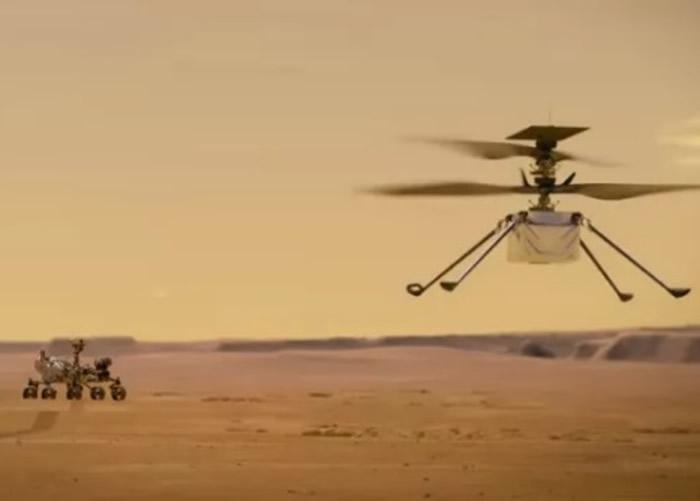 """和坚毅号一同升空的火星直升机""""独创号""""在太空中首次成功充电"""