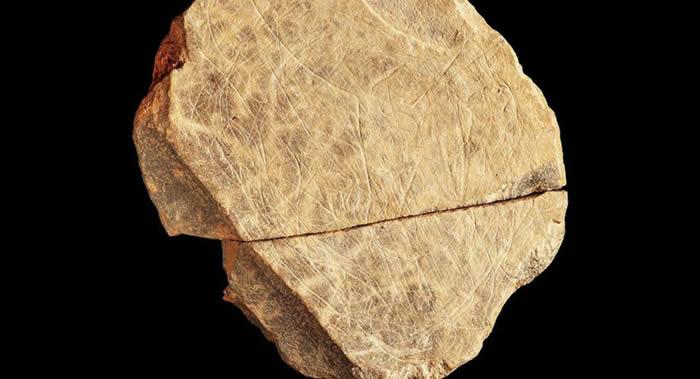 英国考古学家在泽西岛Les Varines遗址发现的石头碎片是不列颠群岛最古老艺术品