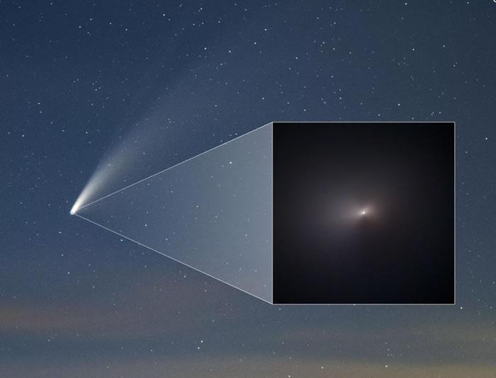 美国宇航局(NASA)和欧空局(ESA)的望远镜拍到Neowise彗星的精彩特写照