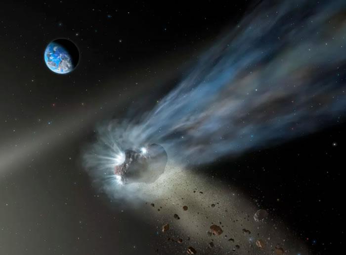 """美国捕捉到""""掠日彗星""""接近太阳的画面"""