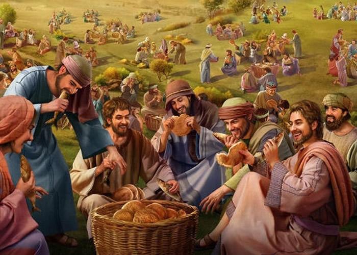 """《圣经》记载,耶稣曾在伯赛大展现""""五饼二鱼""""等神迹。"""