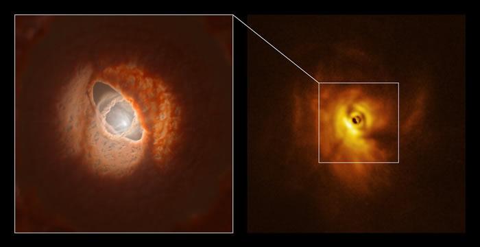 三星系统的GW-猎户座中环绕恒星的星盘由星盘撕裂造成