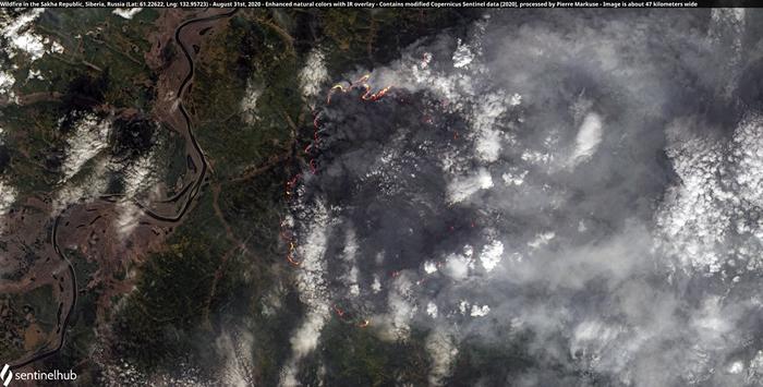 俄罗斯联邦的萨哈共和国野火,摄于8月31日。 照片来源:Pierre Markuse(CC BY 2.0)