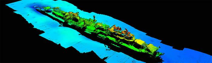 """二战时期沉没的德国""""卡尔斯鲁厄""""号巡洋舰事隔80年出现在挪威海岸"""