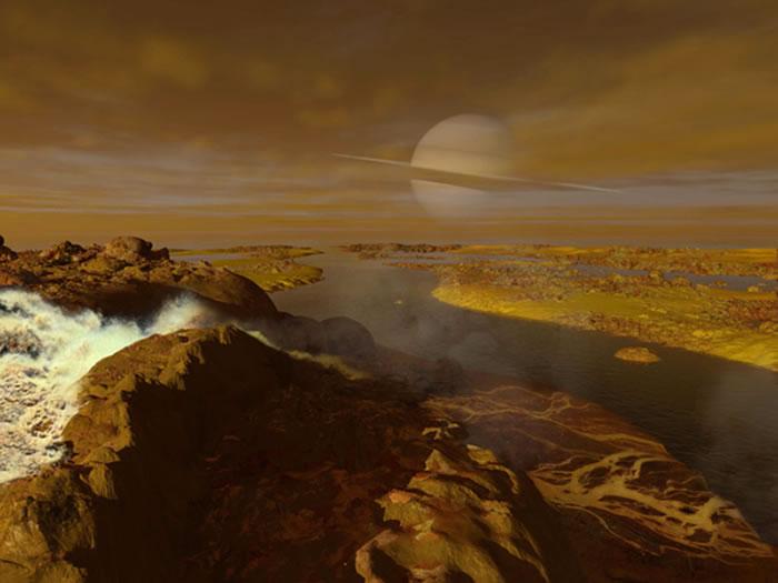 土卫六是土星最大卫星,它是一个充满活力的世界,有厚密的大气层、碳氢化合物构成的湖泊以及许多不同气味。