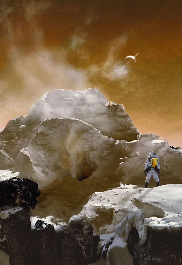 """当""""惠更斯号""""探测器在土卫六表面着陆,拍摄到令人惊奇的土卫六。专家指出,如果未来人类真的到达土卫六,他们可能首先注意到的不是视觉,而是气味。"""