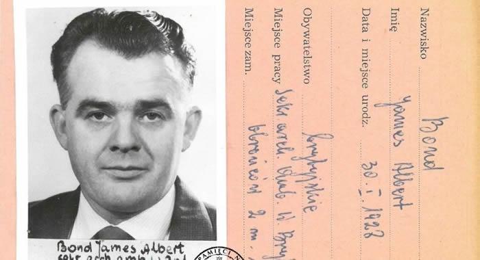 波兰国家记忆研究所档案中发现真正的英国007间谍詹姆斯·邦德的文件