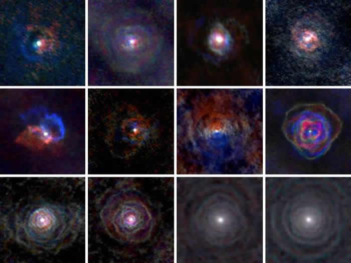 研究发现恒星风并不是球形的 而是类似于行星状星云(L. Decin, ESO/ALMA)