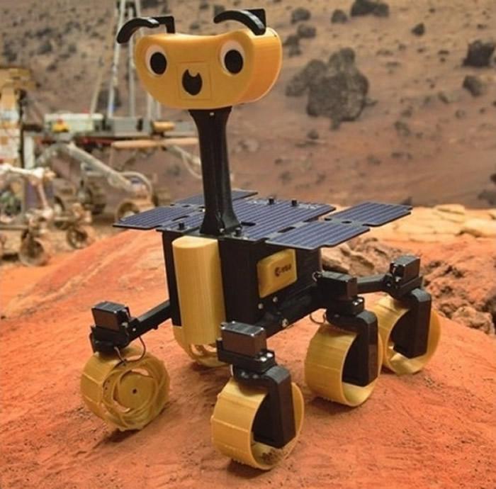 """欧洲太空总署(ESA)推出""""ExoMy DIY""""小型探测器网上教程 3D打印火星探测器"""