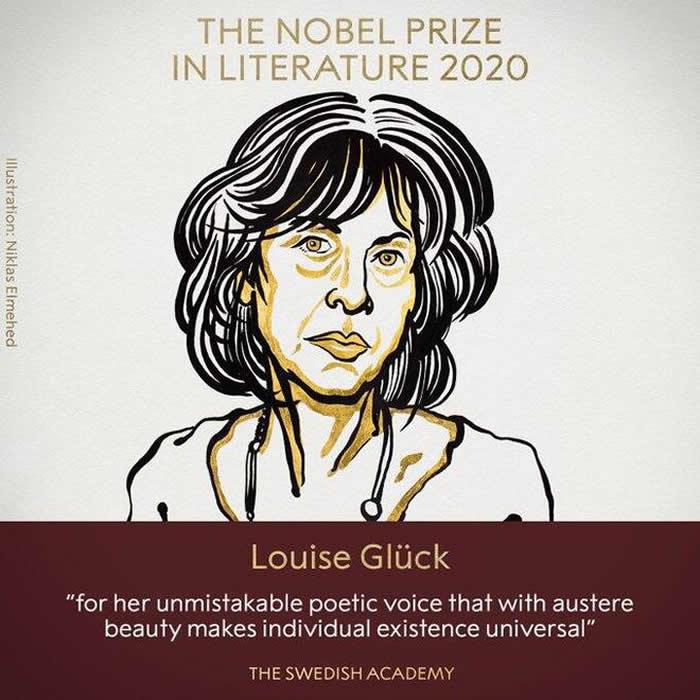 美国诗人露易丝·格丽克(Louise Gluck)获2020诺贝尔文学奖