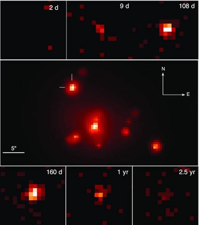 两颗中子星在距离地球约1.3亿光年的地方相互碰撞 仍继续产生X射线