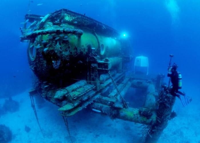 水瓶座号是目前世上唯一的水下研究站。