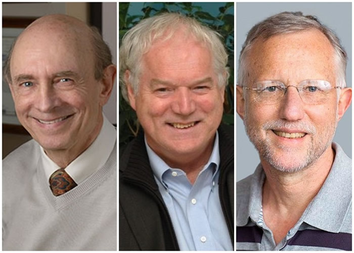 阿尔特、霍顿、莱斯(左起)因发现丙型肝炎病毒而夺得诺贝尔奖殊荣。