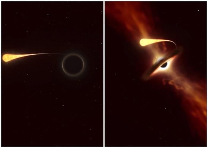 """""""AT2019qiz"""":2亿1500万光年外超大质量黑洞撕裂并吞噬太阳大小恒星"""