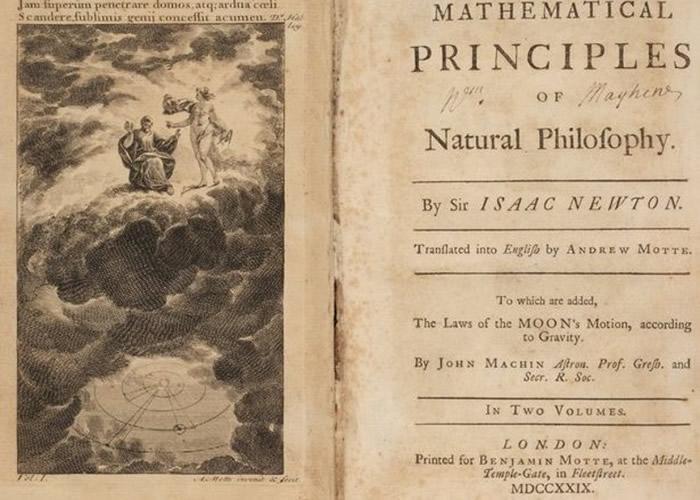 英国南威尔斯一户人家发现著名科学家牛顿著作《自然哲学的数学原理》的英文版初版