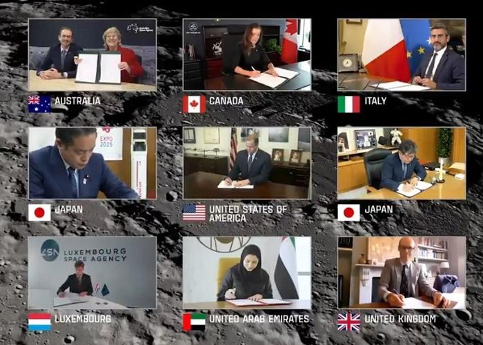 美国与7个国家签署《月亮女神协议》(Artemis Accords)