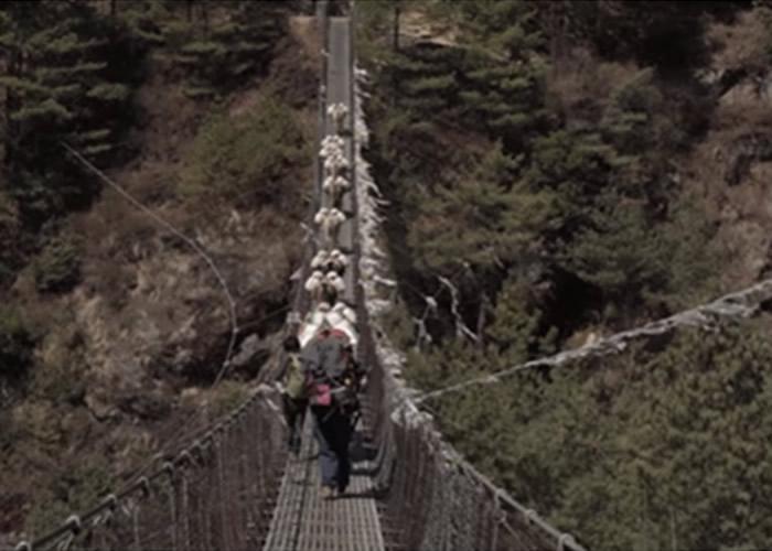 美国青年Nathaniel J. Menninger自荐成为雪巴人脚夫 拍微电影赞颂登珠峰的无名英雄