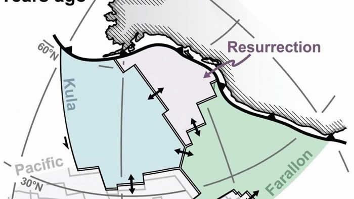 研究发现太平洋下隐藏着一个消失了6000万年的构造板块Resurrection