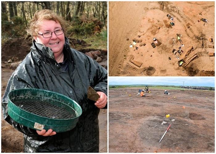 英国考古团队在苏格兰阿伯丁郡发掘出铁器时代大型建筑群遗址