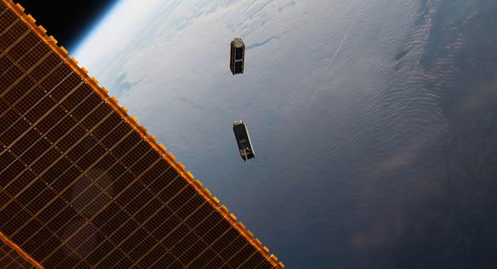 美国、加拿大和以色列的七颗小型卫星从国际空间站释放到太空