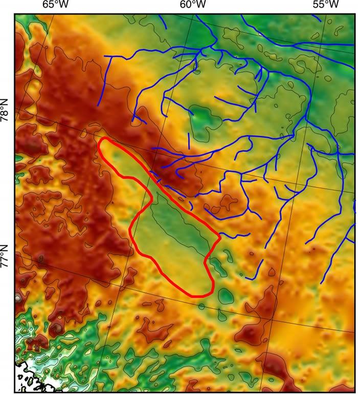 """《地球与行星科学通讯》杂志:NASA""""冰桥行动""""发现格陵兰岛冰层之下有一个巨大湖床"""