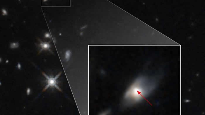 伽马射线暴!哈勃太空望远镜观测到遥远星系中无法解释的光亮