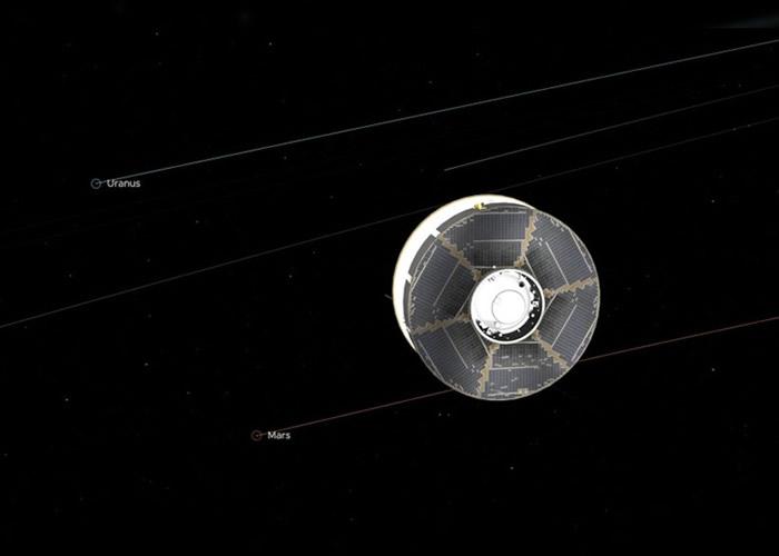 """NASA火星探测器""""坚毅号""""距离火星不足2.68亿公里 将100天内抵达火星"""
