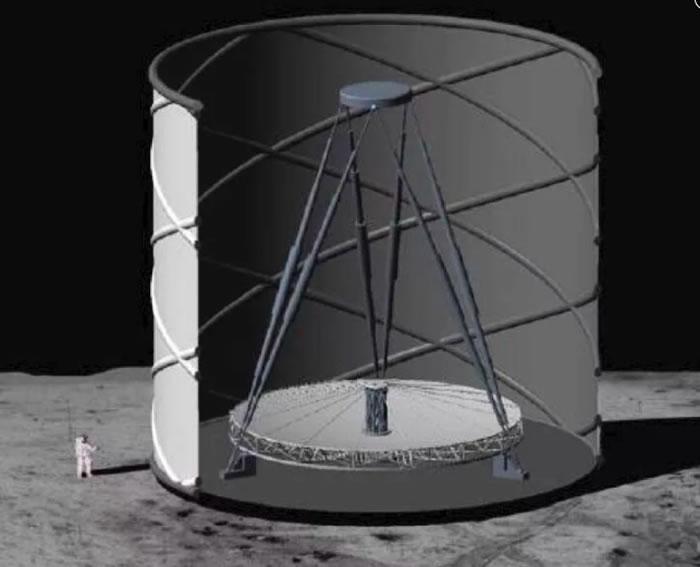 《天体物理学杂志》:天文学家重新审视在月球上建造液体镜面望远镜的概念