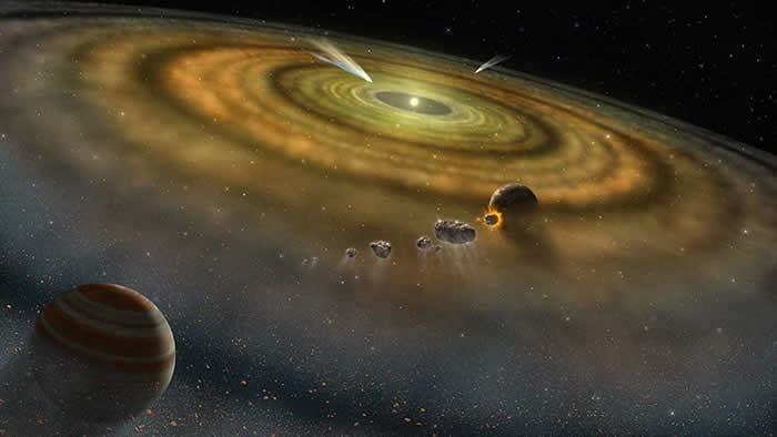 美国劳伦斯利弗莫尔国家实验室最新研究表明太阳系形成花费了不到20万年的时间