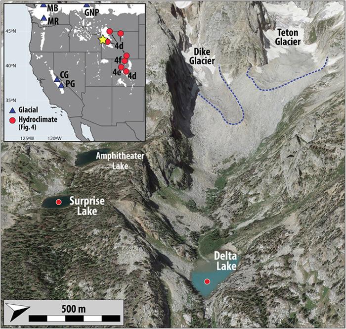 连续1万年的记录表明在早全新世暖化时期美国西部冰川一直处于休眠状态