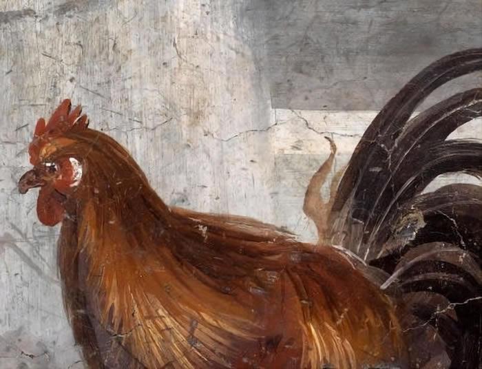 考古学家在公元79年被火山喷发埋葬的庞贝古城发现装有壁画的热食和饮品店