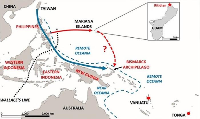 美国属地关岛遗址两具史前人类骸骨证岛上原住民源自台湾
