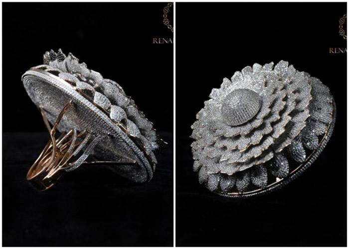 印度密拉特珠宝公司Renani Jewels设计镶嵌12638颗钻石的戒指获健力士世界纪录认证