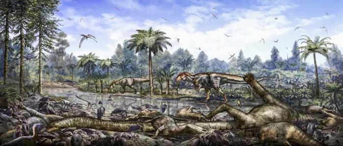 重庆云阳恐龙动物群埋藏复原图