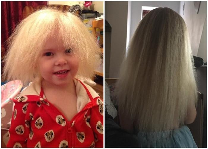 长大后的巴洛与以前相比,其头发顺直不少。