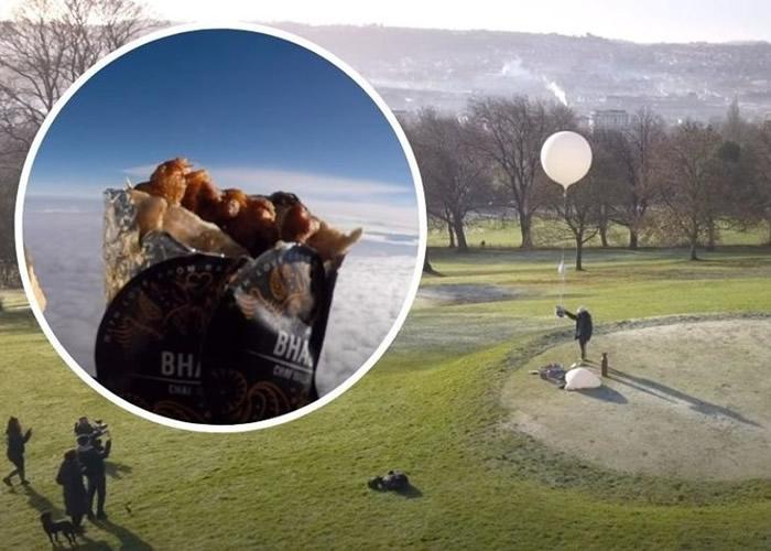 英国巴斯餐馆用气象气球将印度咖喱角送上太空 坠落法国后不翼而飞