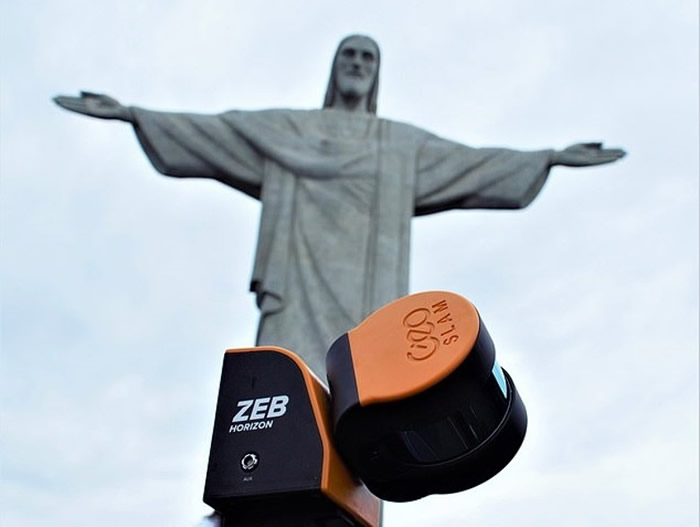 巴西科技公司GeoSLAM利用先进手提扫描仪ZEB Horizon呈现里约耶稣像细致结构