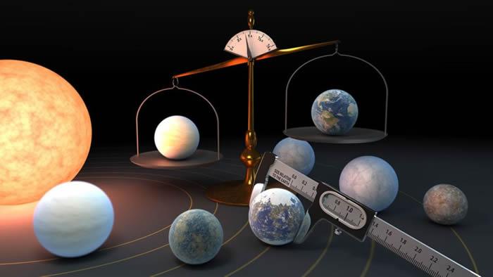 红矮星TRAPPIST-1七颗类地行星都具有非常相似的密度