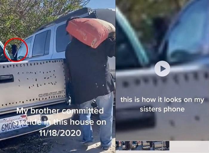 灵异现象:美国加州男子拍摄影片时意外发现疑似是死去弟弟的鬼影