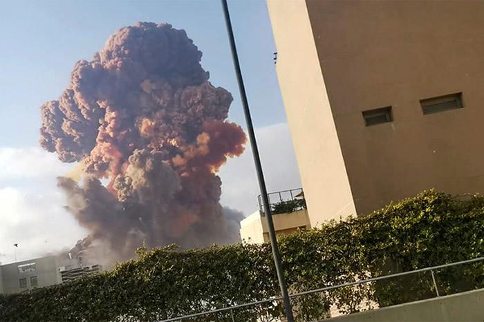 研究指黎巴嫩首都贝鲁特大爆炸是人类史上除核爆炸以外最大人为爆炸 冲击波直达外太空