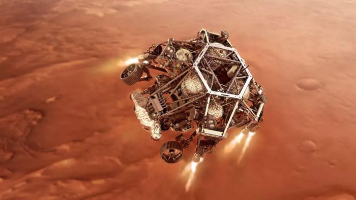 """NASA""""毅力号""""将在10天后在火星表面着陆"""