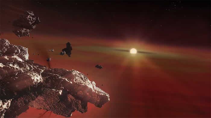 在白矮星大气层中发现具有类似地球外壳的行星残骸