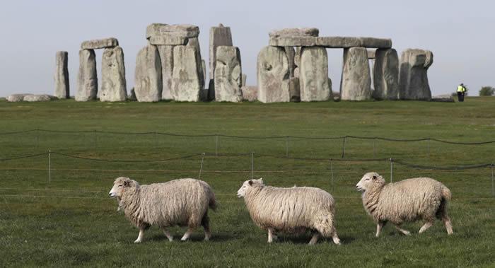 考古学家在巨石阵中发现古代墓葬和神秘圆柱形物体