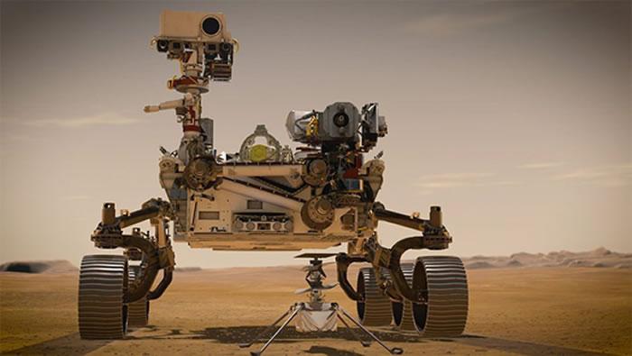 """毅力号搭载的""""机智号""""直升机将在火星上起飞:解锁外星探索新姿势"""